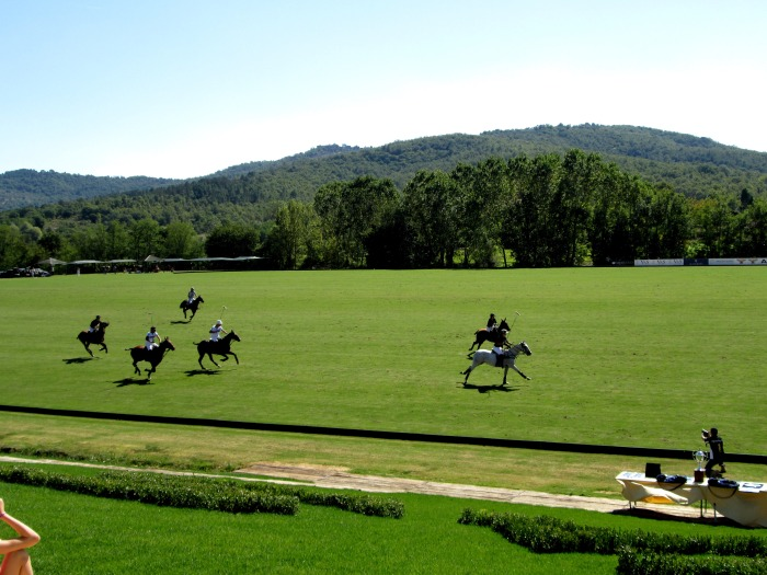 Villa Sesta Polo club with the Tuscan hills where Chianti comes from in the background!