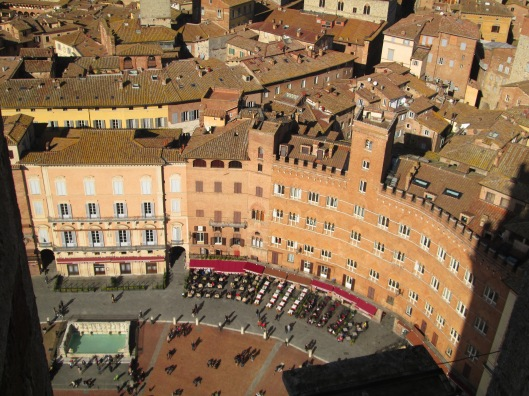 Here's Bar il Palio as seen from the top of the bell tower!