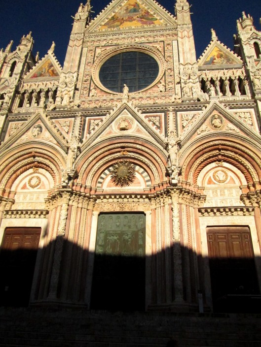 The photo doesn't do Siena's duomo (cathedral) justice. The animated carvings are non-stop!