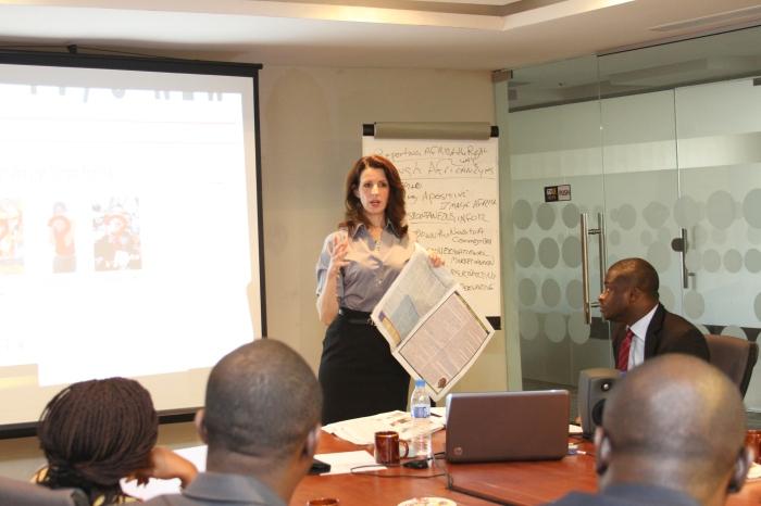 Journalism training session